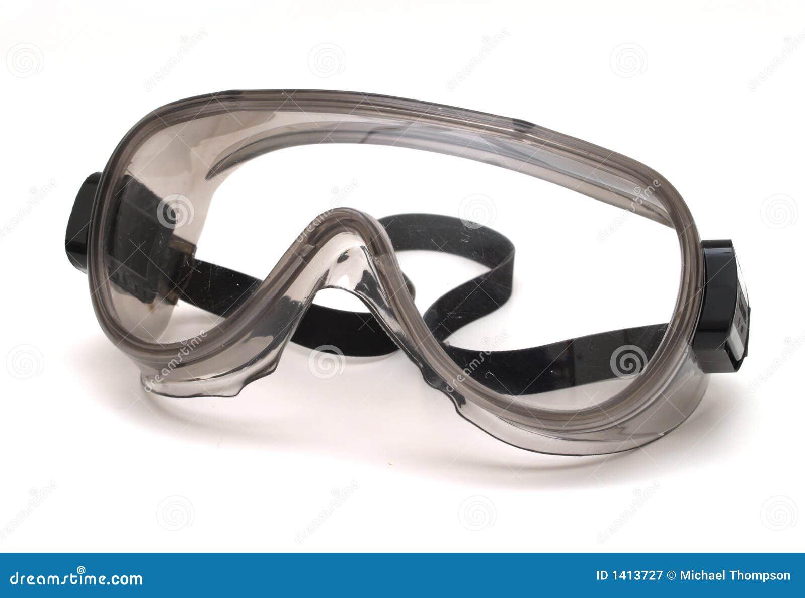 Luvas e óculos de proteção