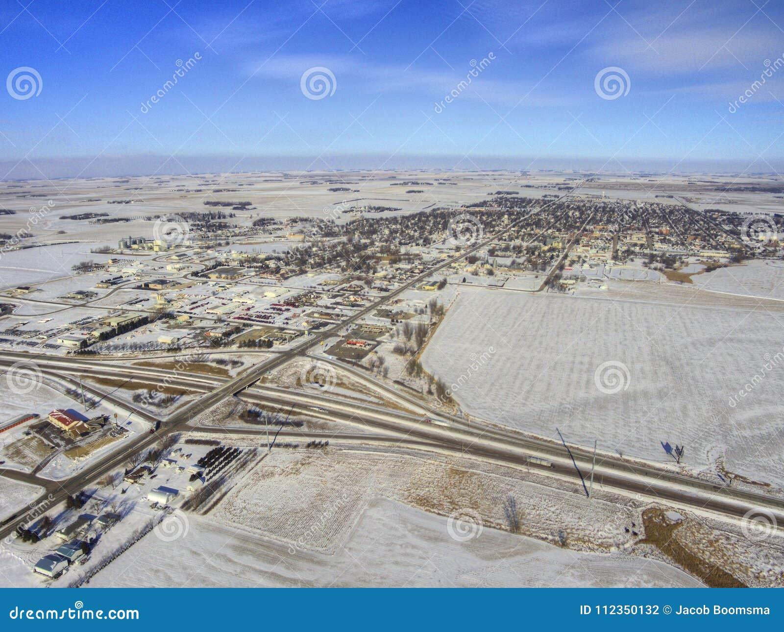 Luverne w Południowym Zachodnim Minnestoa podczas zimy