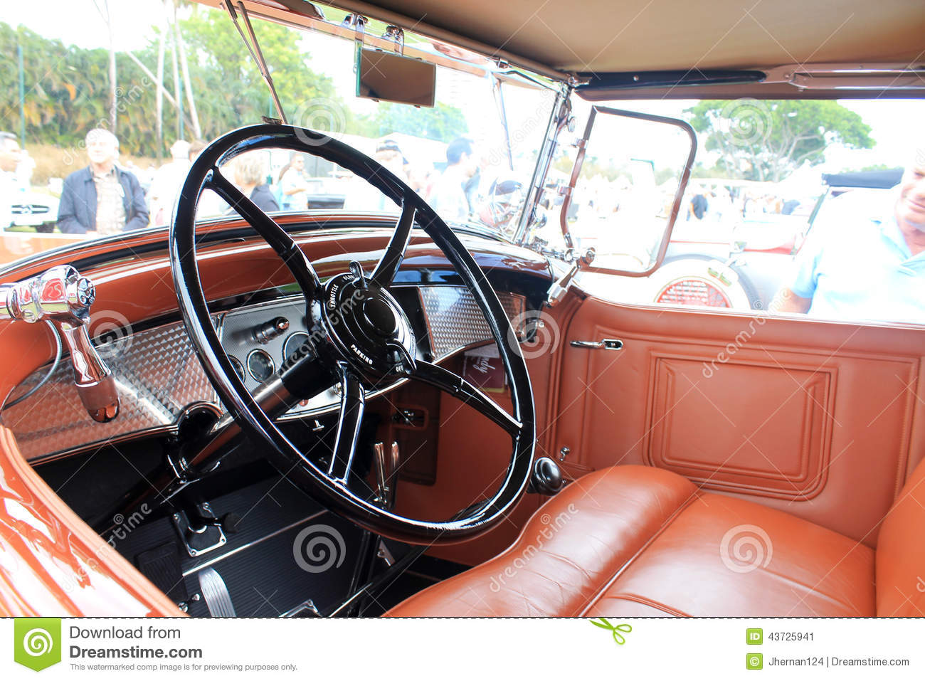 interior retro american car stock image 66212311. Black Bedroom Furniture Sets. Home Design Ideas