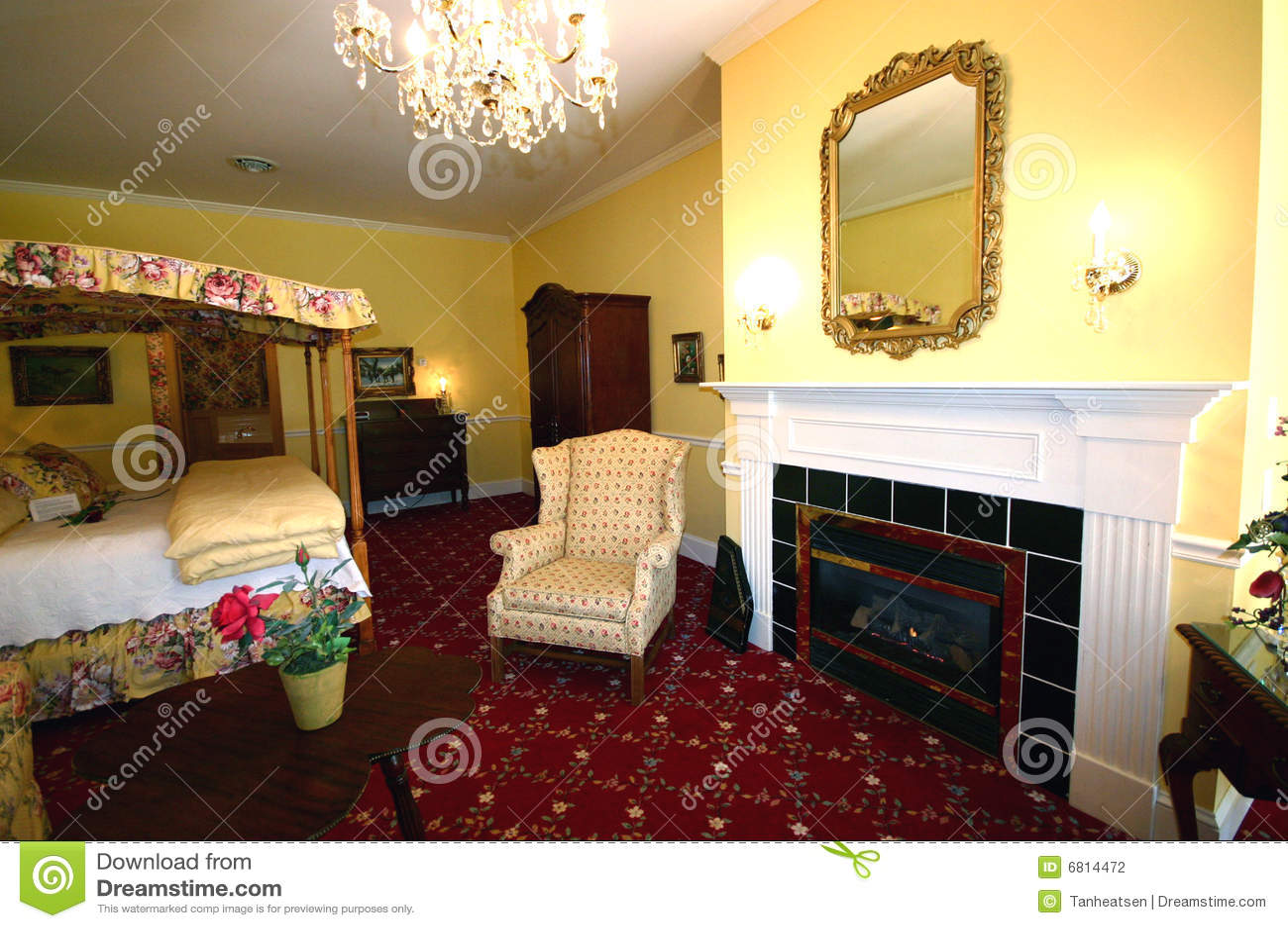 Luxe de chambre coucher photographie stock image 6814472 for Chambre a coucher de luxe