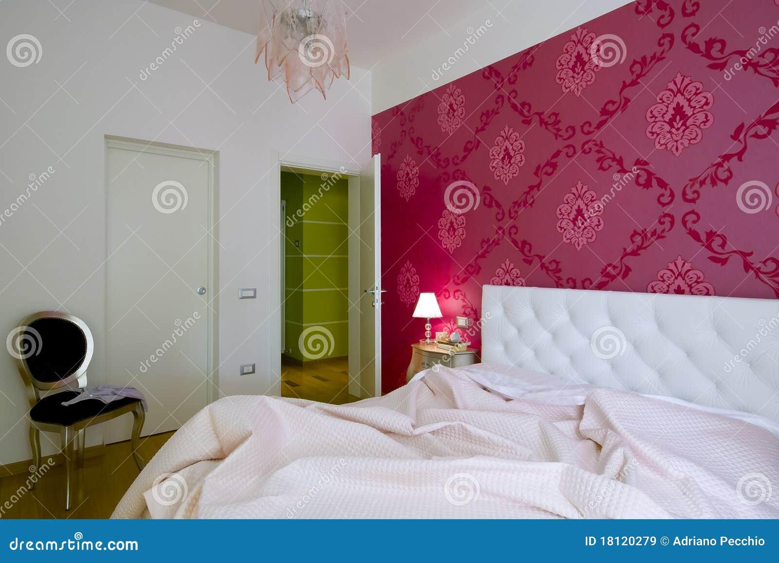 Luxe en romantische slaapkamer stock afbeelding afbeelding 18120279 - Romantische slaapkamer ...