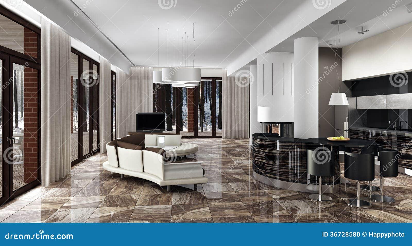 Daglicht Je Keuken : Luxe licht binnenland in daglicht stock illustratie illustratie
