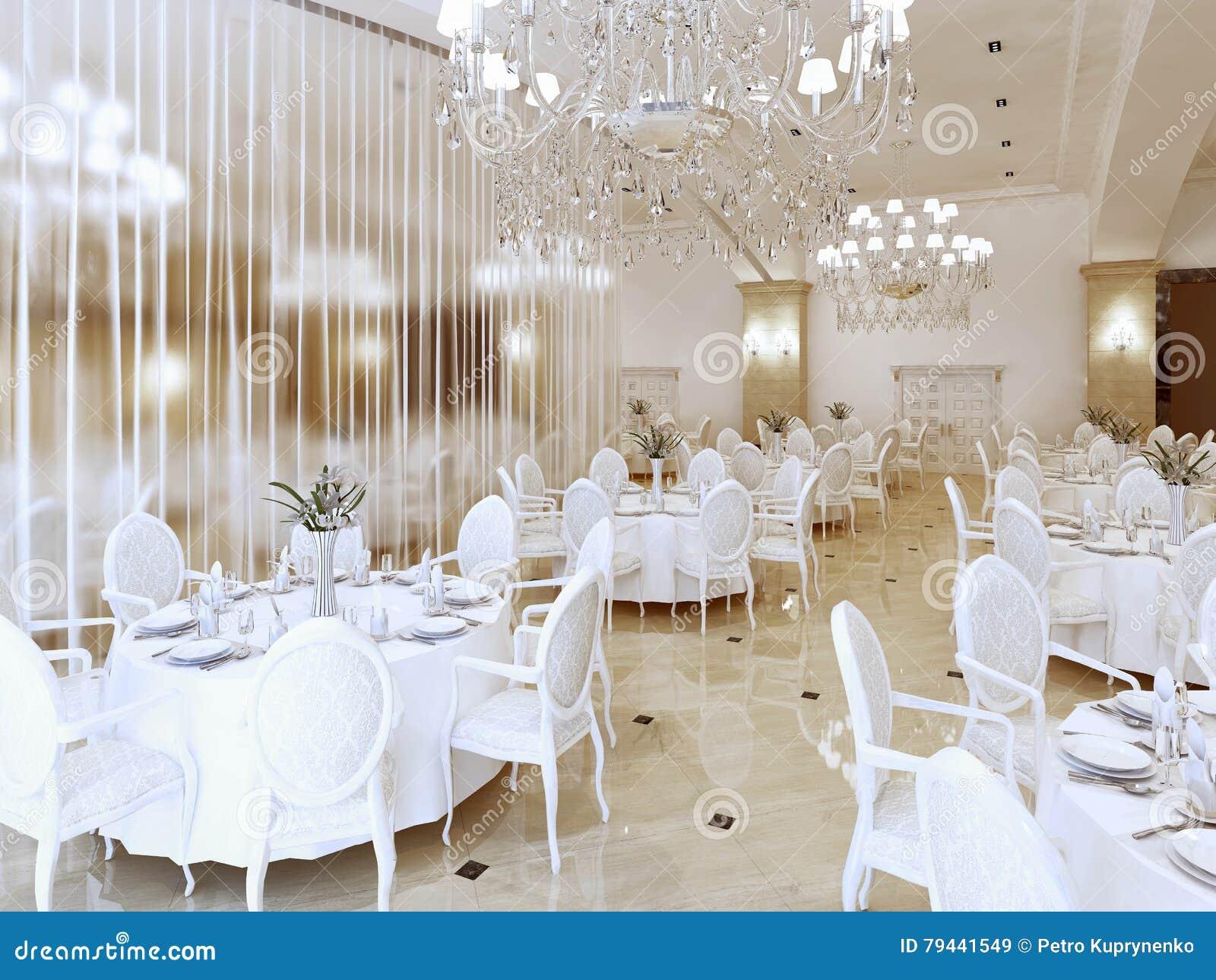 Luxe modern restaurant in klassieke stijl stock illustratie