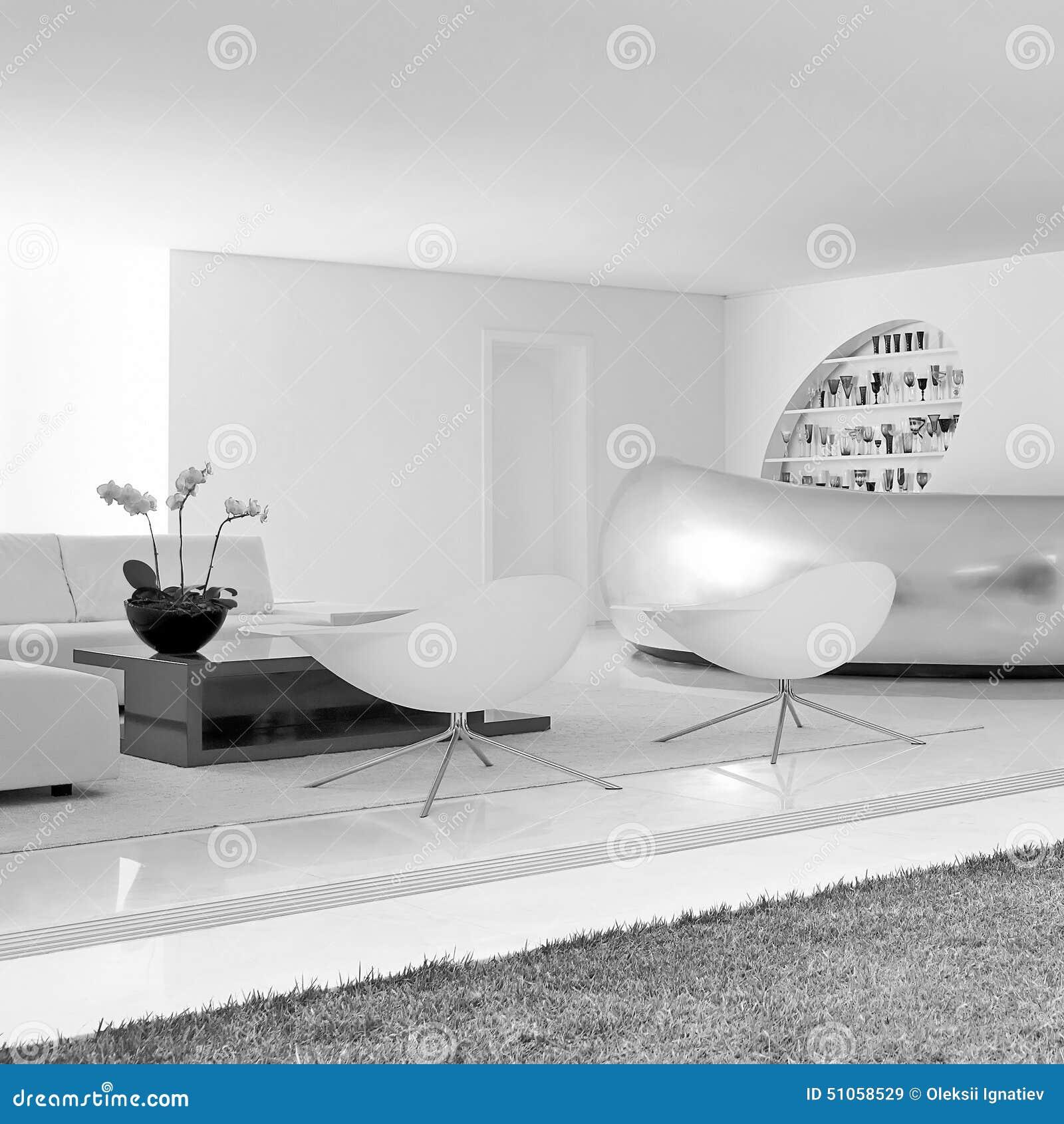 luxe moderne woonkamer met decoratie 1 stock foto - afbeelding, Deco ideeën
