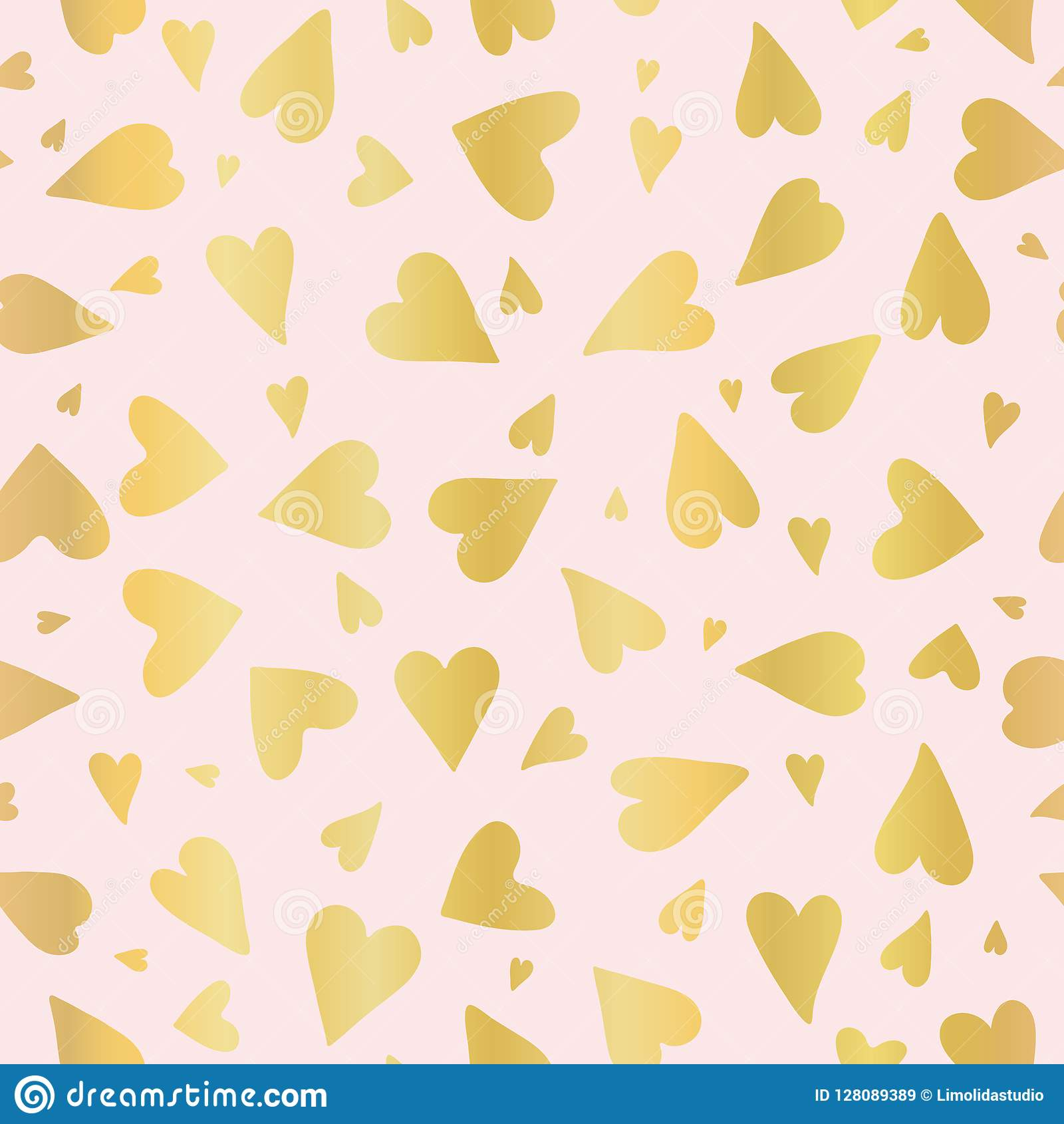 luxe rose gold love hearts sprinkles texture pattern seamless luxe rose gold love hearts sprinkles texture pattern seamless vector 128089389