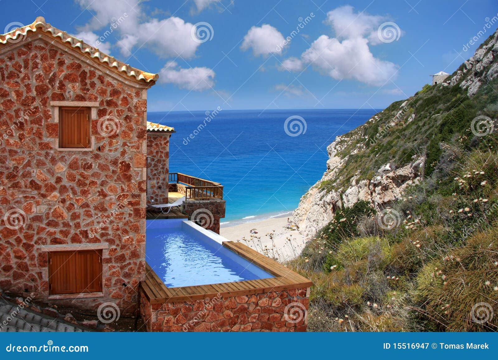Luxe villa met zwembad stock afbeelding afbeelding for Luxe villa met zwembad