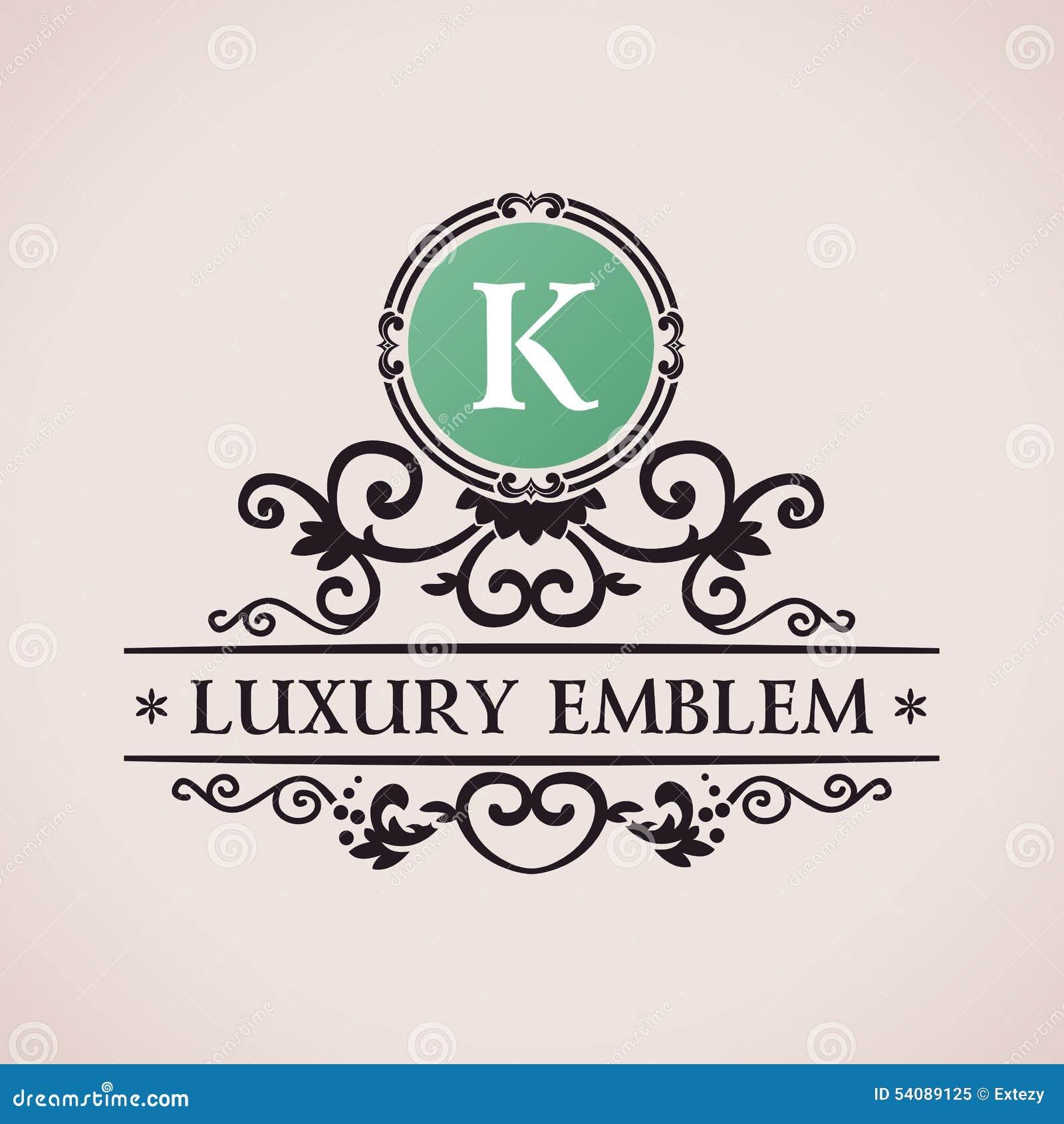 Luxeembleem Kalligrafisch patroon elegant decor