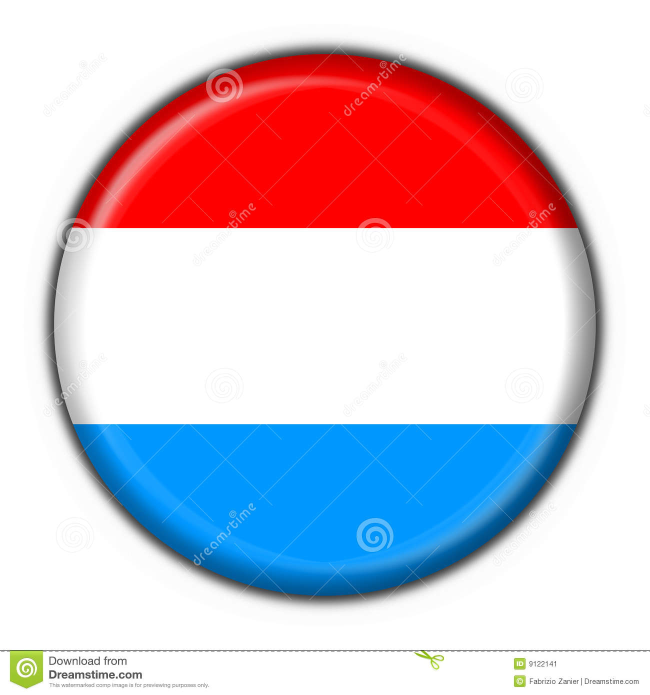 luxembourg button flag round shape stock illustration