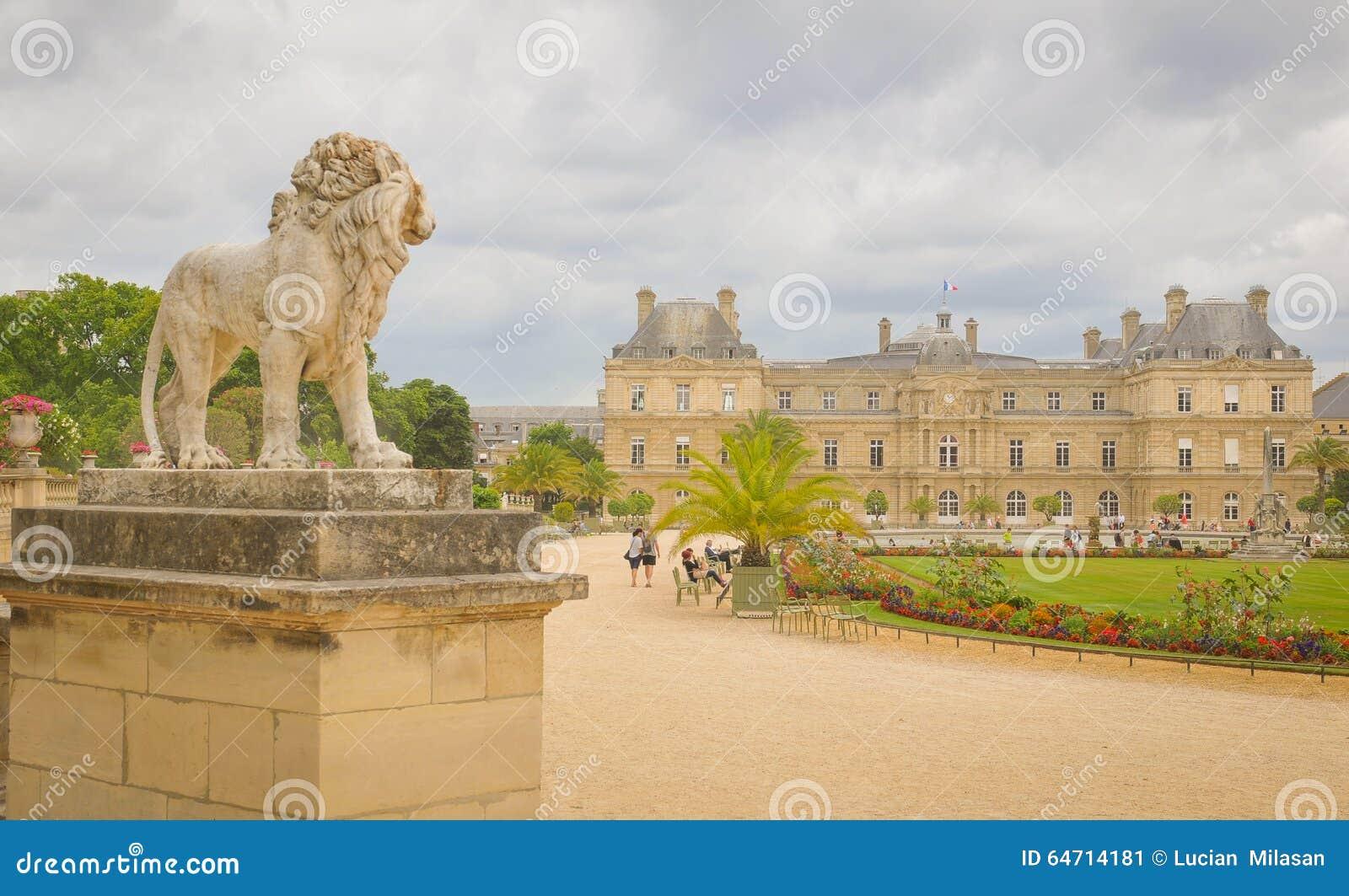Luxembourg Garden (Jardin du Luxembourg) in Paris, France