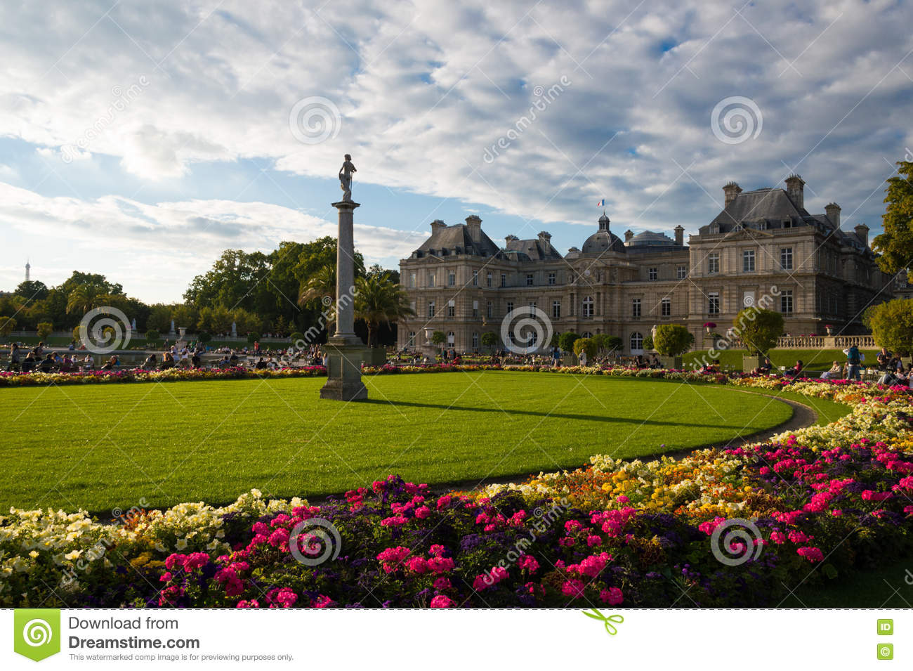 Luxembourg Garden Paris Editorial Image Image Of Typical 78886035