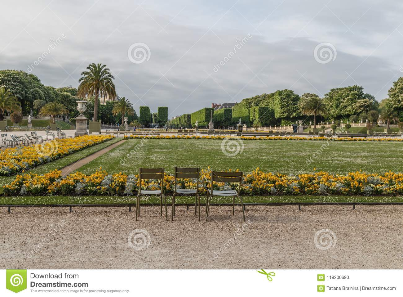 Luxembourg Garden in the spring