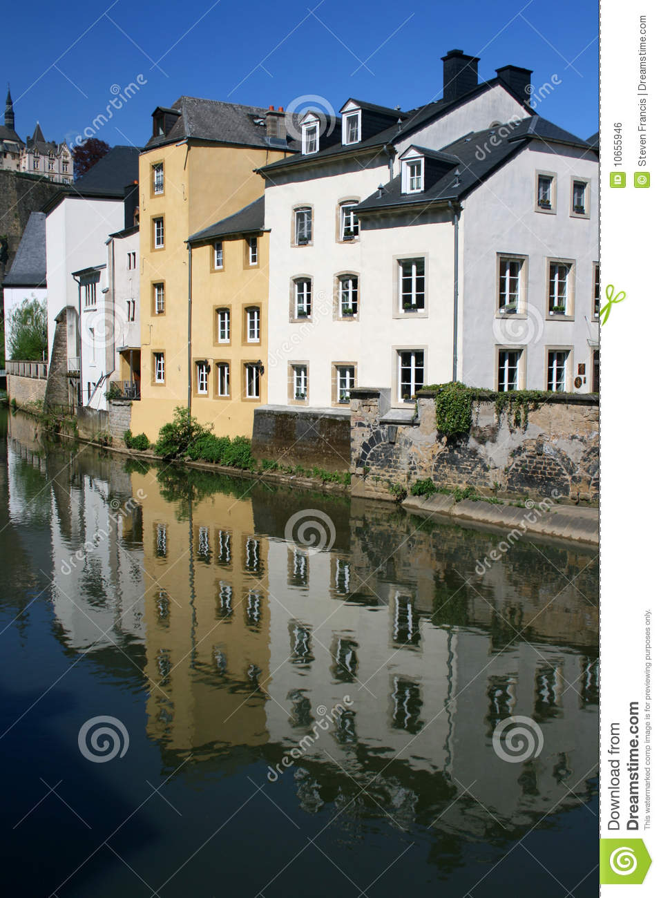Luxembourg house reflection royalty free stock image for Luxembourg homes