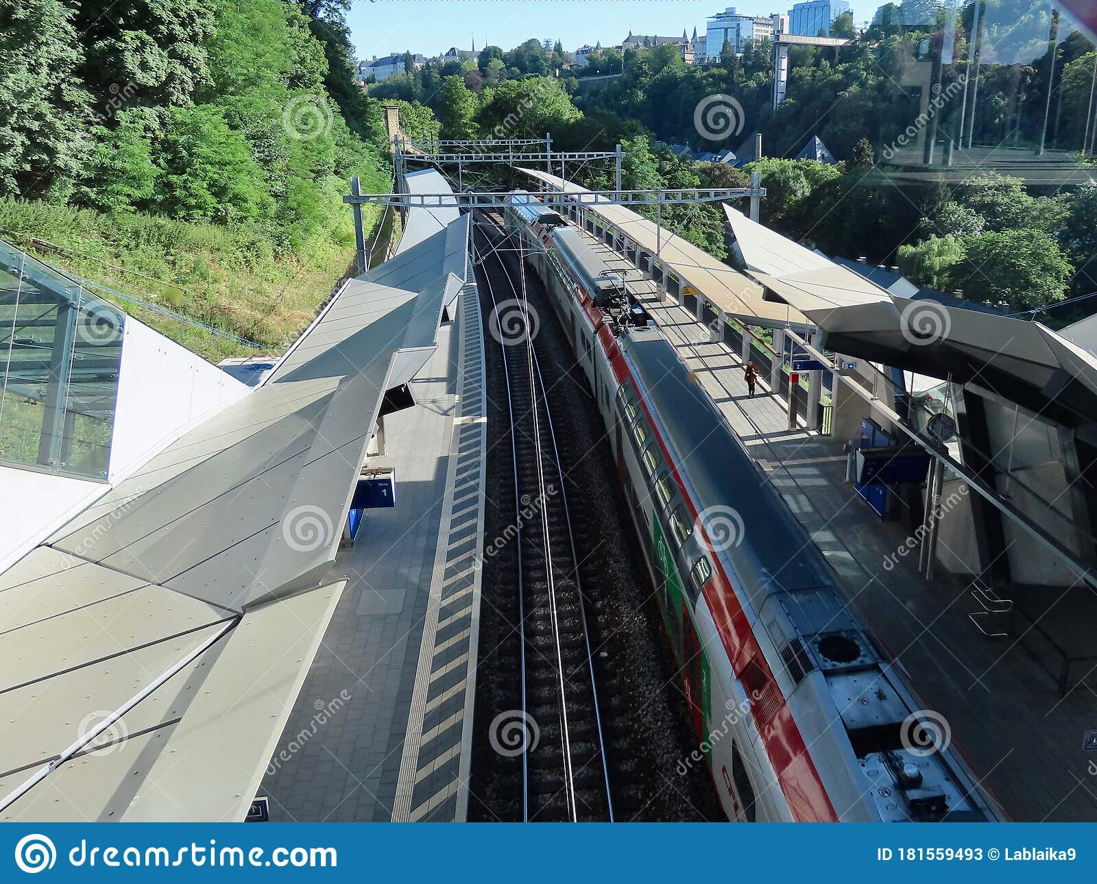 Train Station View From Above Color Stock Photo - Image of