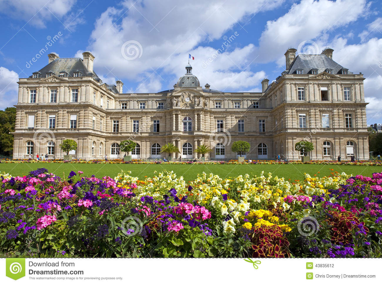 Luxembourg Palace In Jardin Du Luxembourg In Paris Editorial
