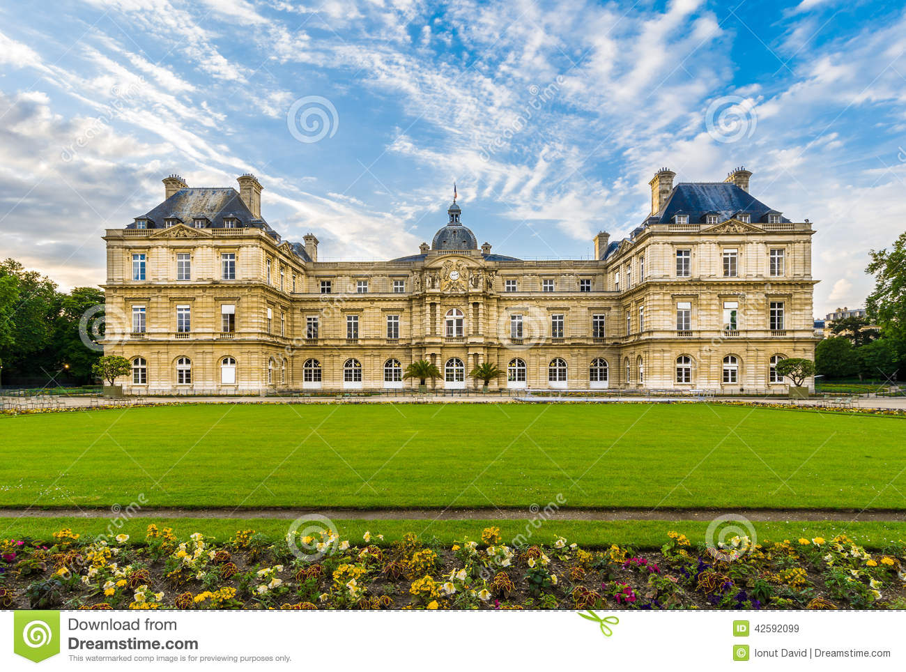 the luxembourg palace paris france stock photo image 42592099. Black Bedroom Furniture Sets. Home Design Ideas