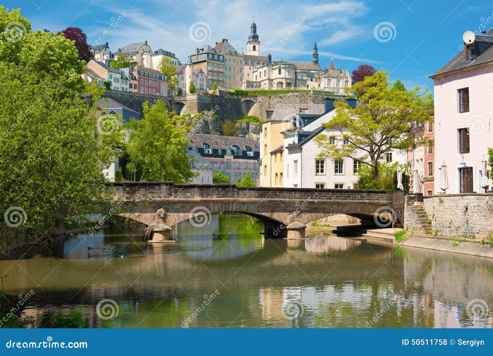 Luxemburg-Stadt an einem Sommertag