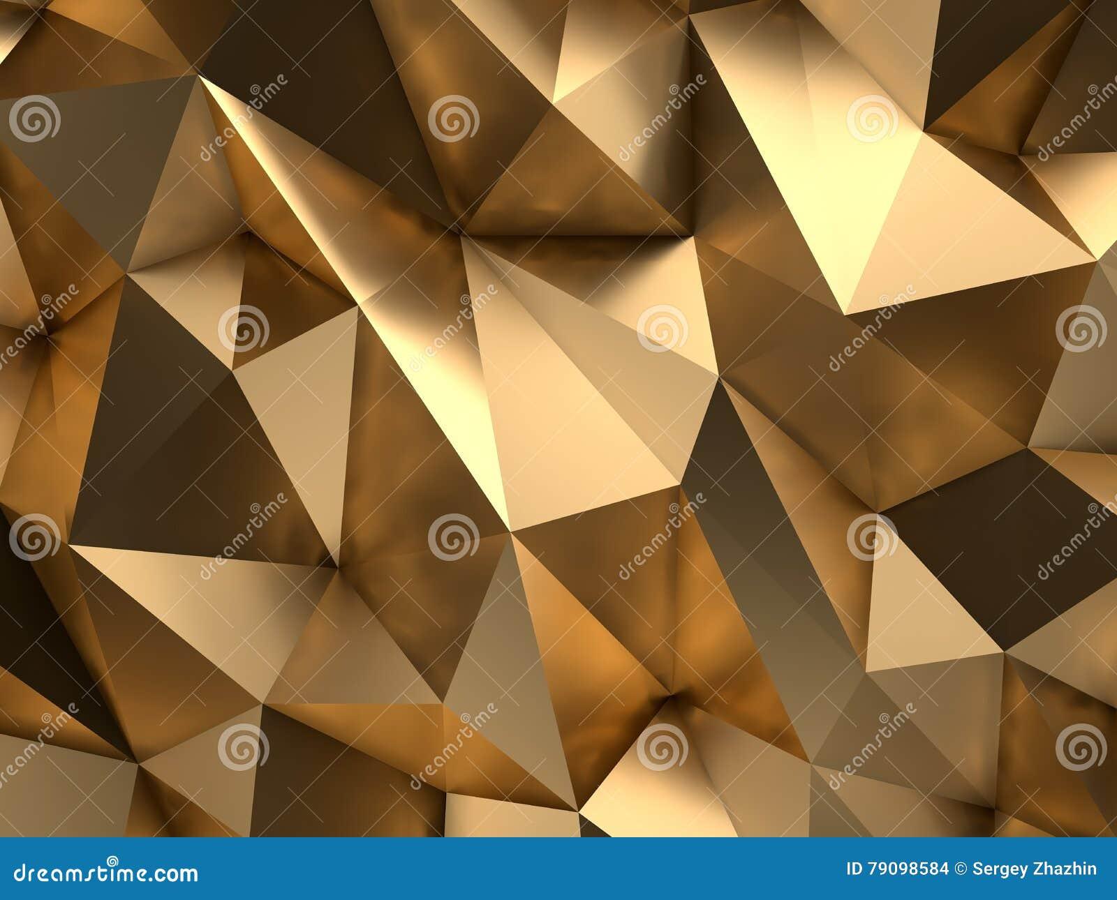 Luxevip het Gouden Abstracte 3D Teruggeven Als achtergrond