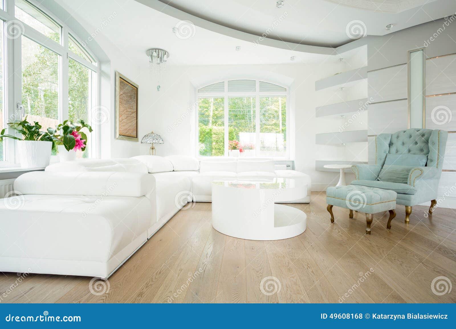 Luxewoonkamer In Pastelkleuren Stock Foto - Afbeelding: 49608168