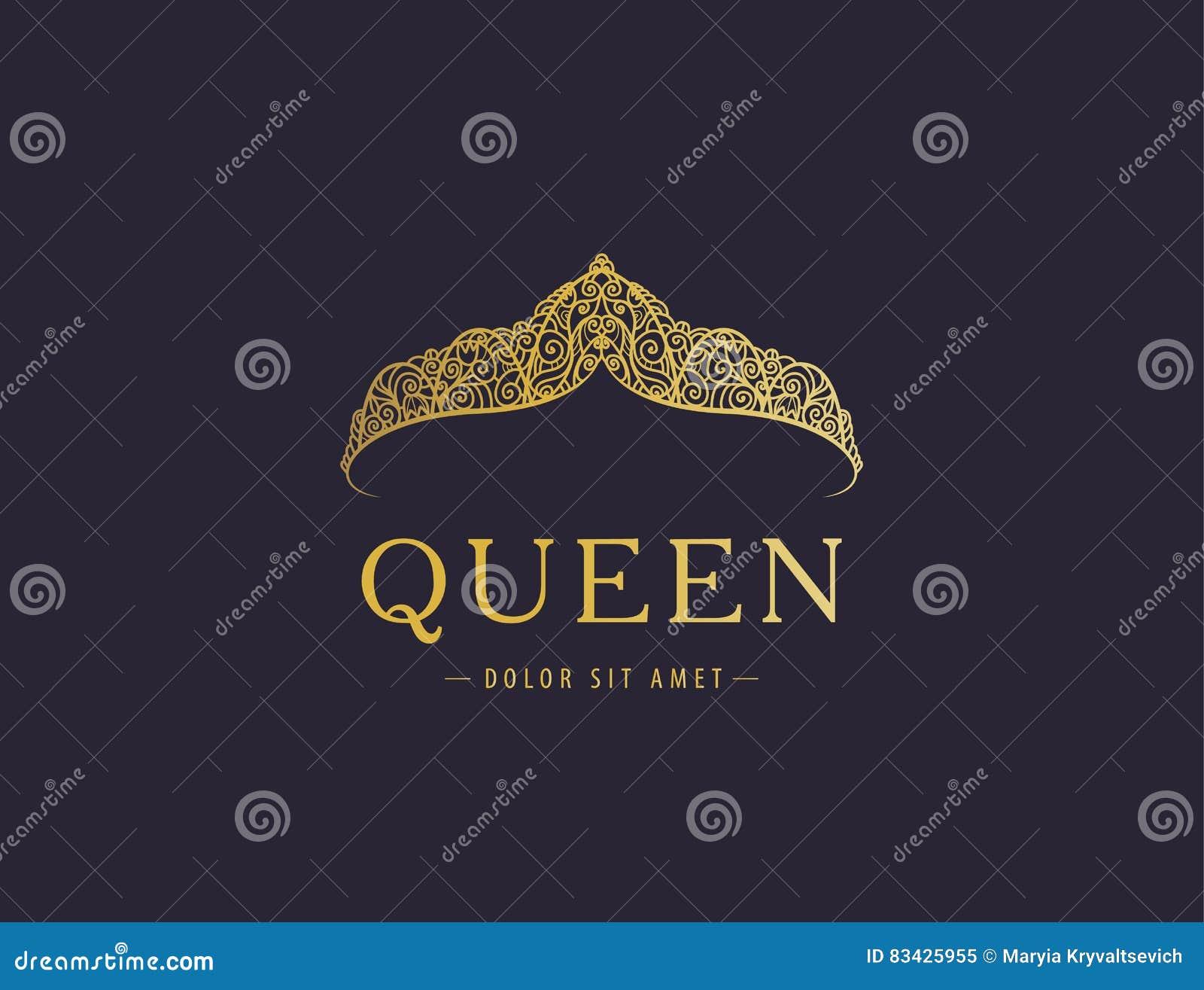 Luxo abstrato, projeto dourado real do vetor do ícone do logotipo da empresa