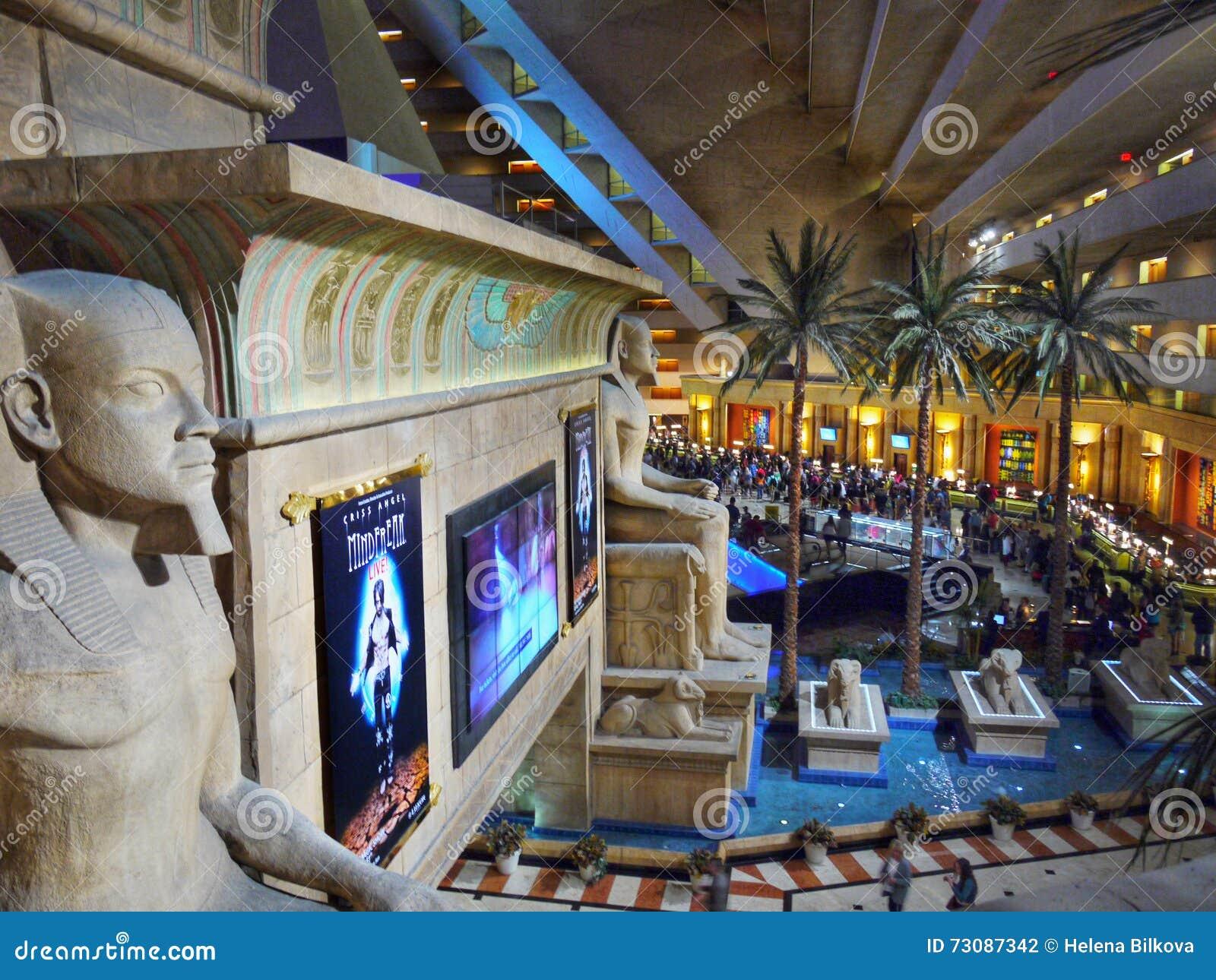 Luxor Casino Interior Lobby Las Vegas Editorial Photography - Image of hall, gambling: 73087342