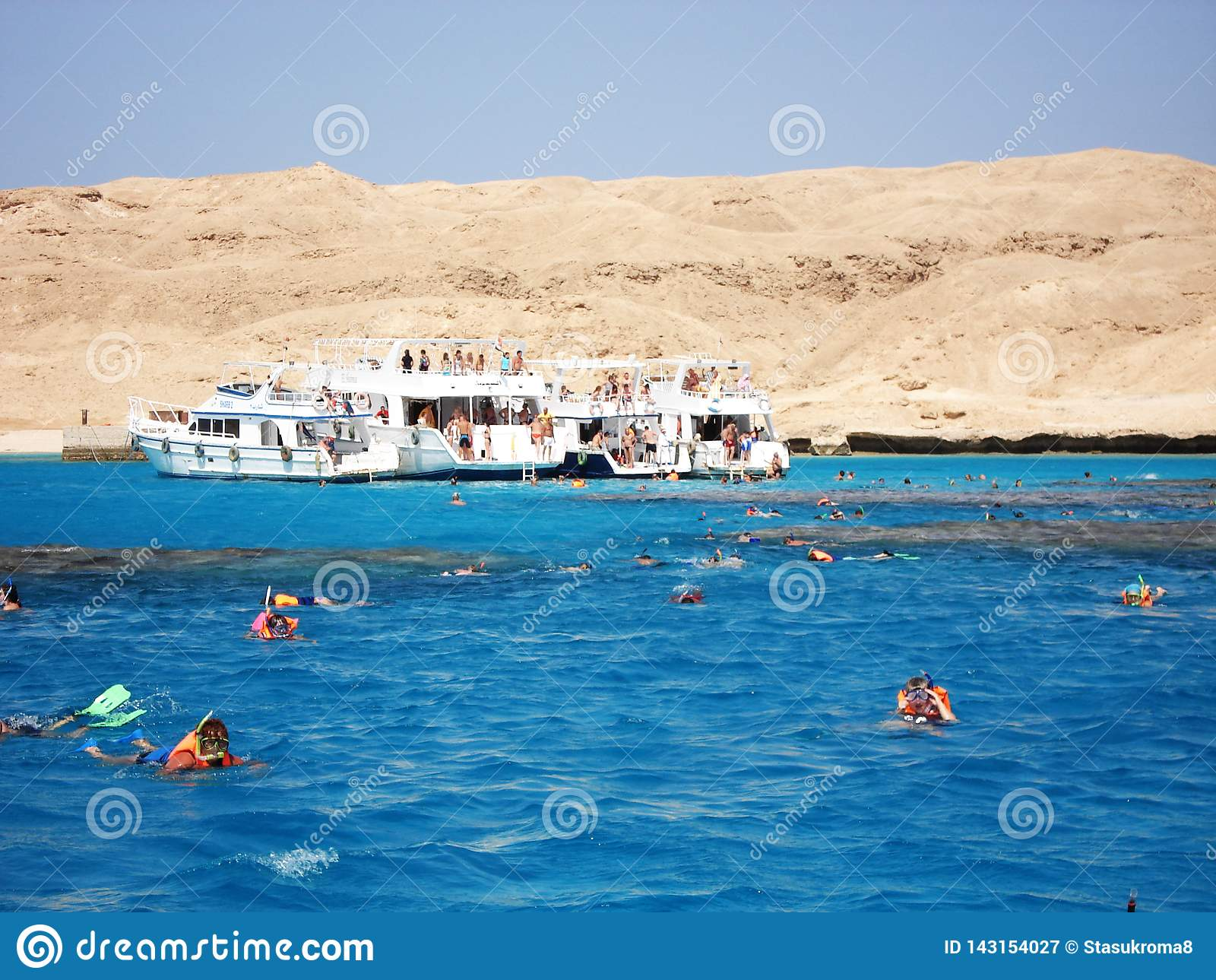Luxor, Egypt. May 25, 2013. Beach. Boat. boat on the shore. Tourists. Yacht