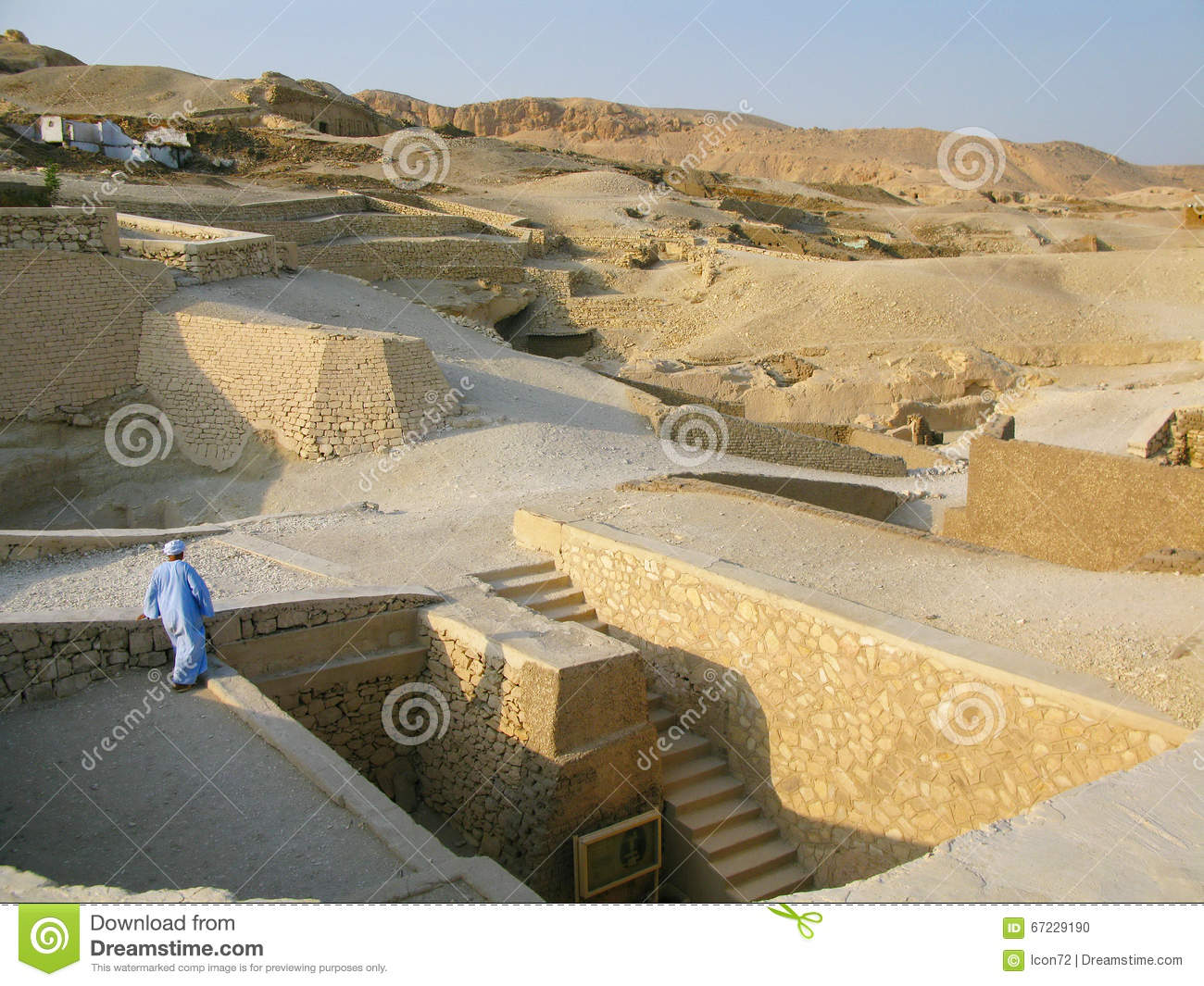 Luxor, Egypt: Tomb of Ramose at the ancient necropolis of the nobles in Thebes