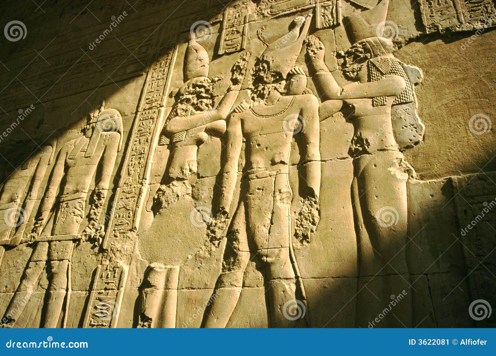 luxor temple bas relief egypt stock image image 3622081. Black Bedroom Furniture Sets. Home Design Ideas