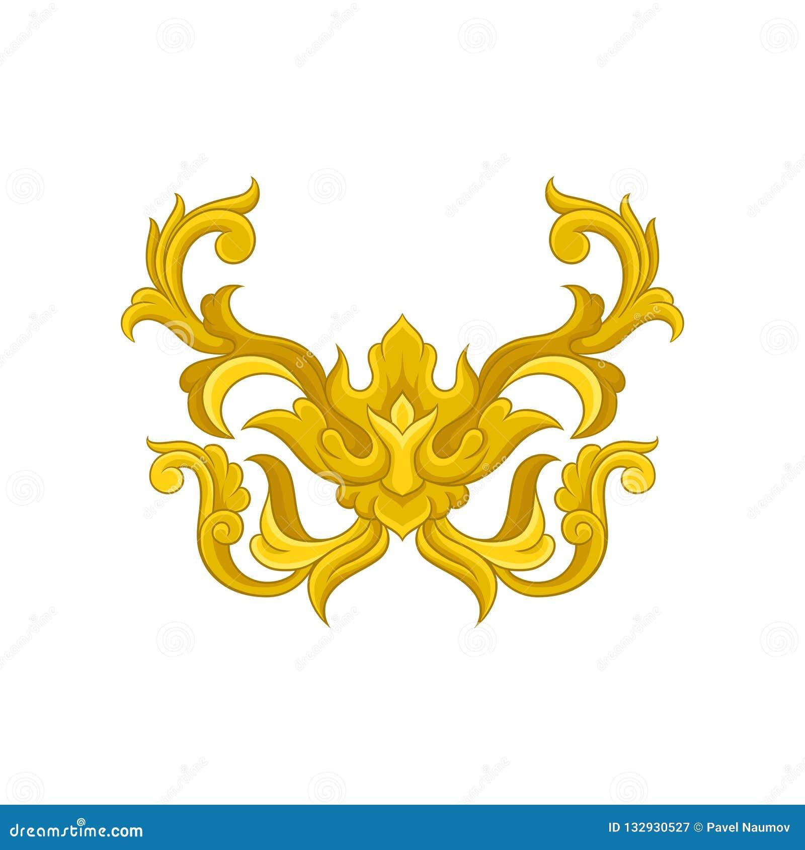 Luxueus barok ornament Elegante gouden decoratie Bloemen patroon Antieke Stijl Decoratief vectorelement