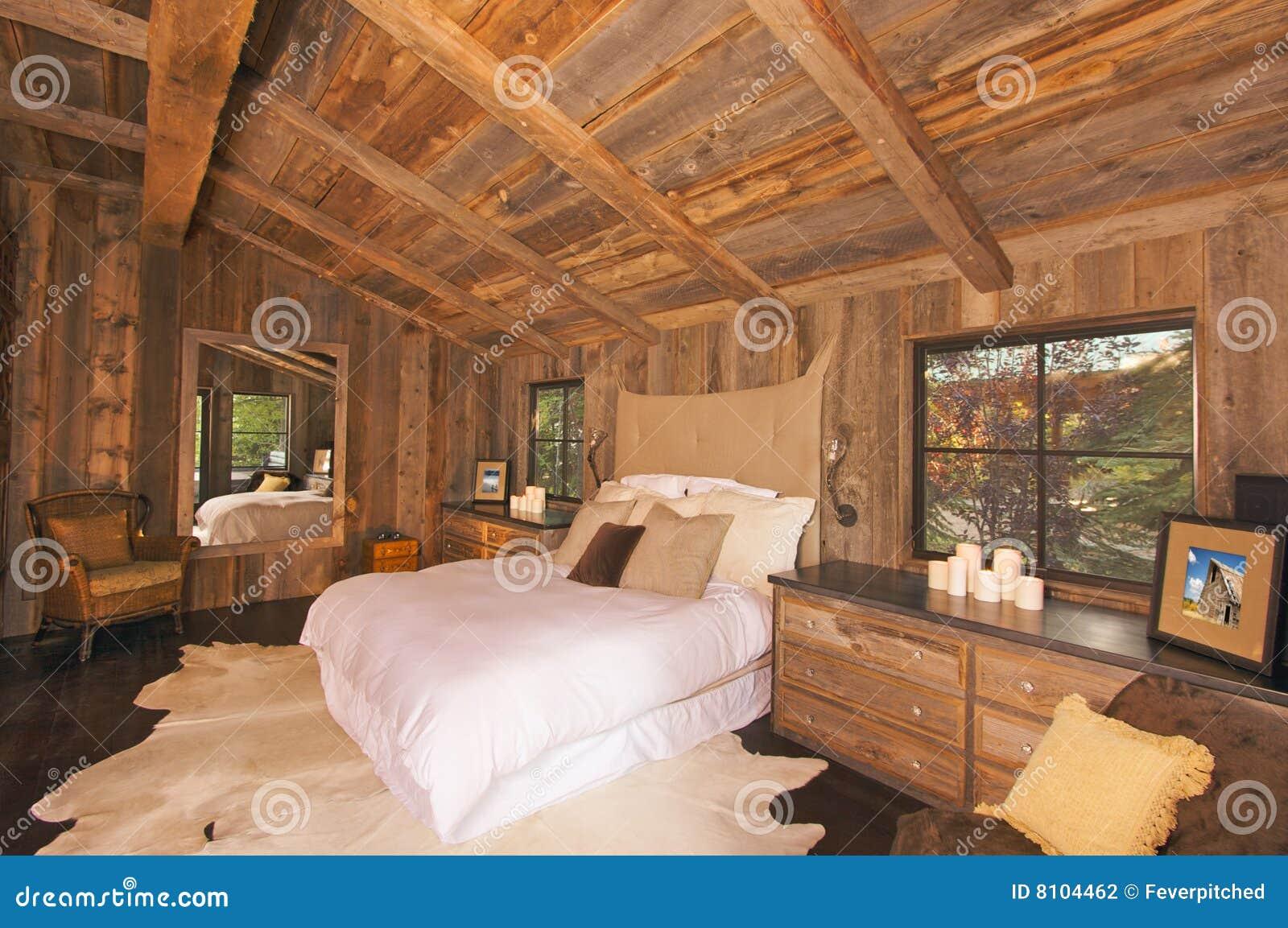 Luxuriöses Rustikales Protokoll-Kabine-Schlafzimmer Stockfoto - Bild ...