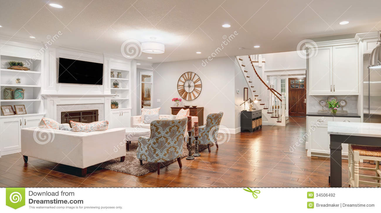 Luxuriöses Wohnzimmer Panorama