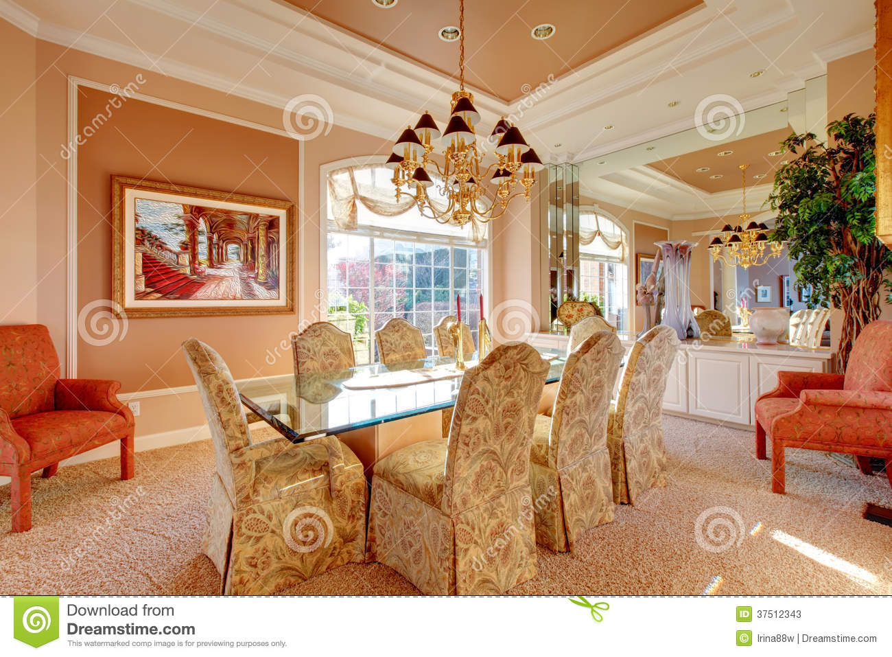 Luxuriant bright dining room stock photos image 37512343 - Wonderful antique dining room ideas elegant supper time ...