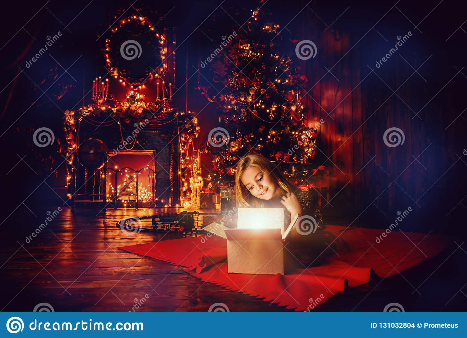 Luxurious apartment at christmas