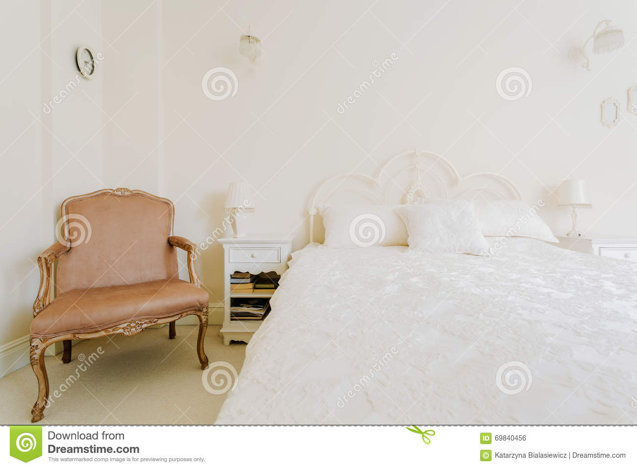 Luxurious Bedroom In Rich House Stock Photo Image Of Empty