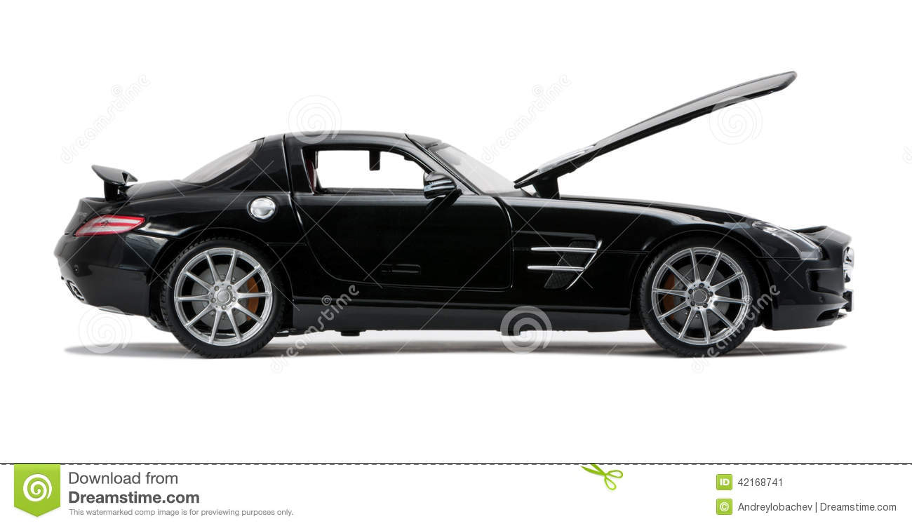 Expensive Car For Sale Or Gift Royalty Free Stock Image: Luxurious Black Car Side View Stock Photo