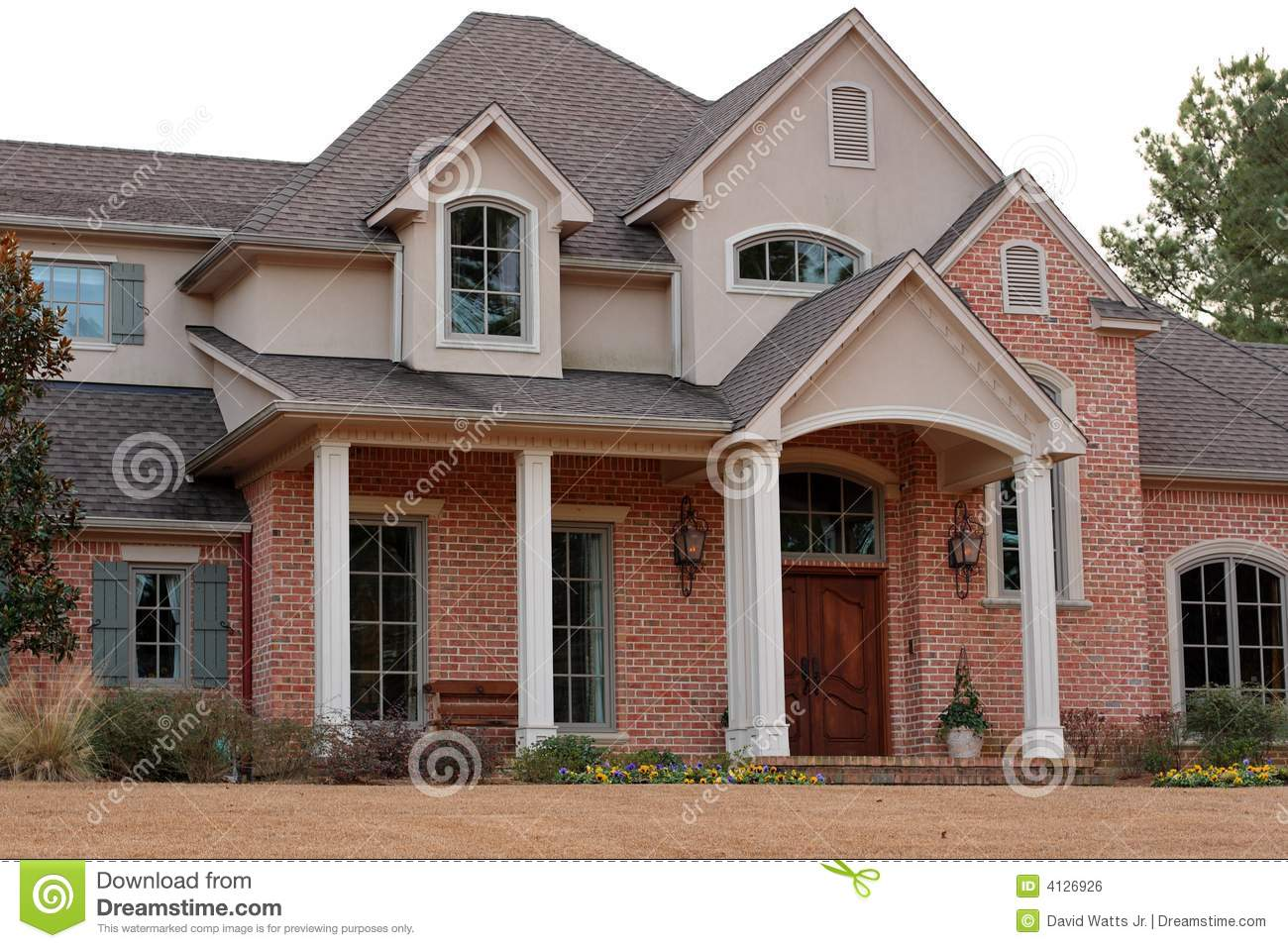 Luxurious Brick House Stock Photo Image Of Wealth Rocks