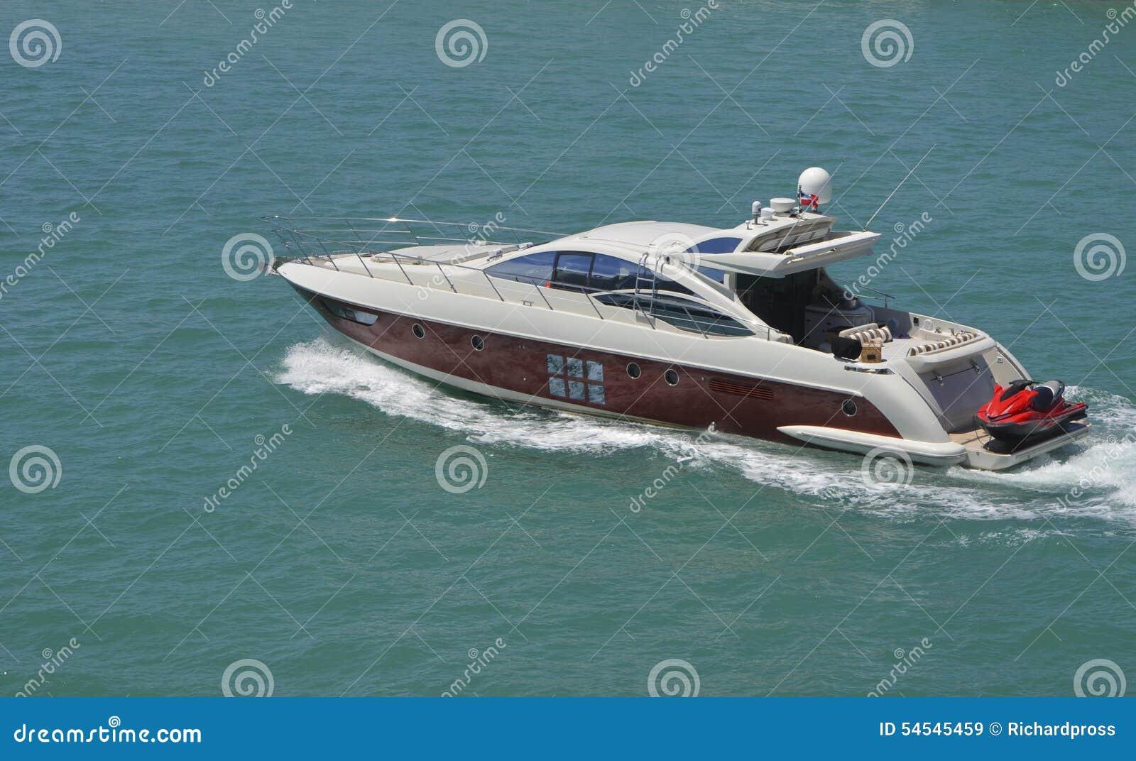 Luxurious Cabin Cruiser Stock Photo Image 54545459