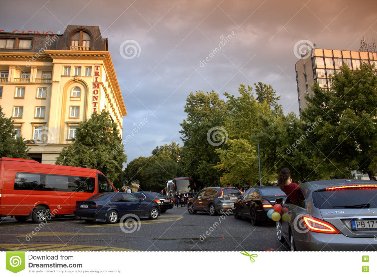 Luxurious Cars Procession,Plovdiv Bulgaria Editorial Photo