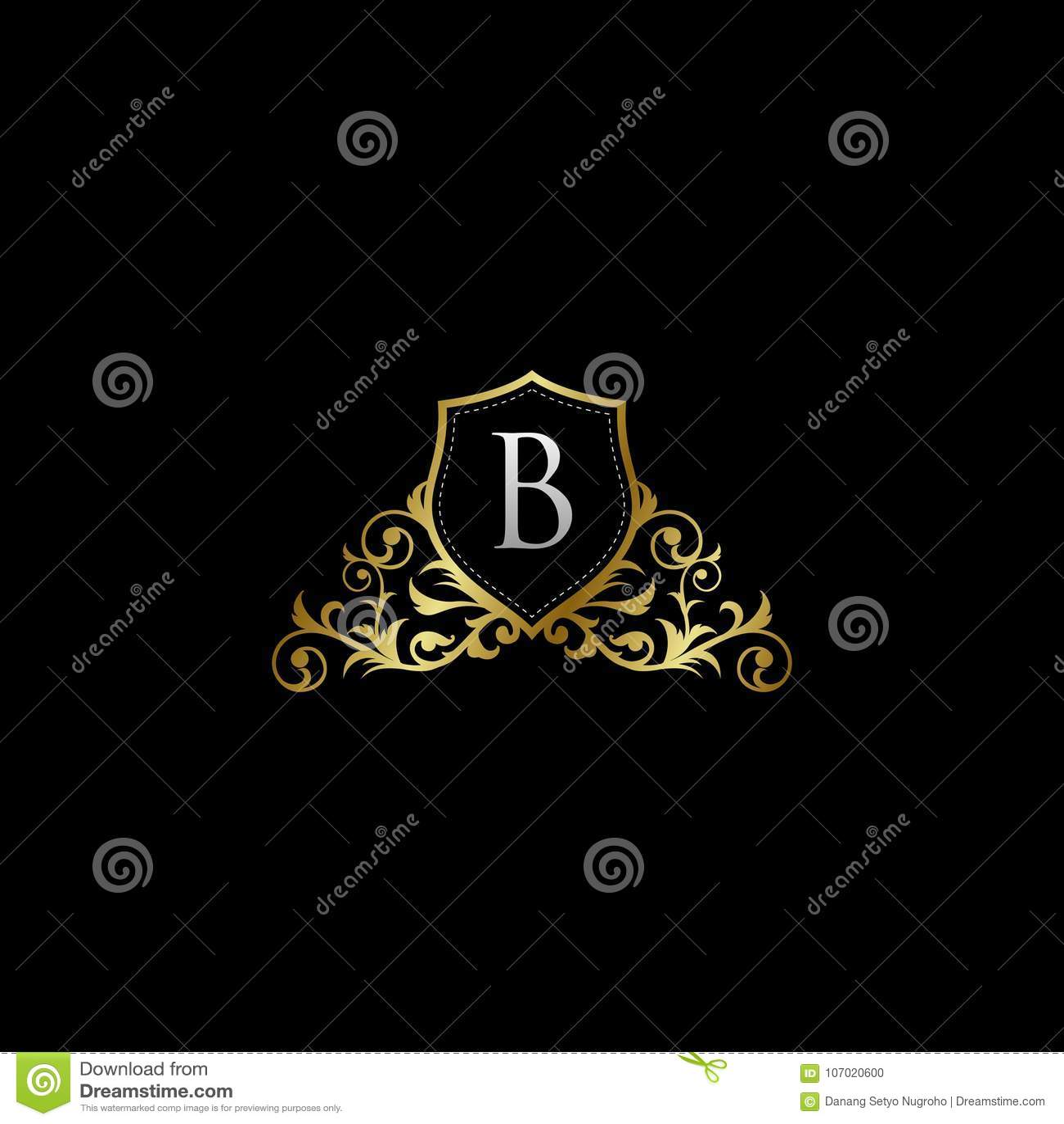 B Logo luxurious classy letter b logo vector stock illustration