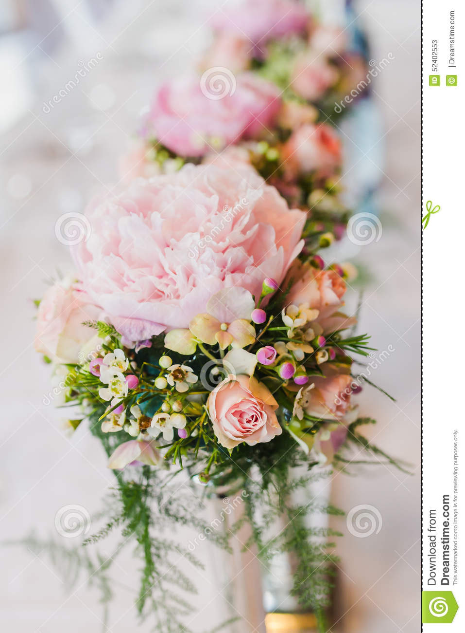 Luxurious flower of flowers on table stock photo image