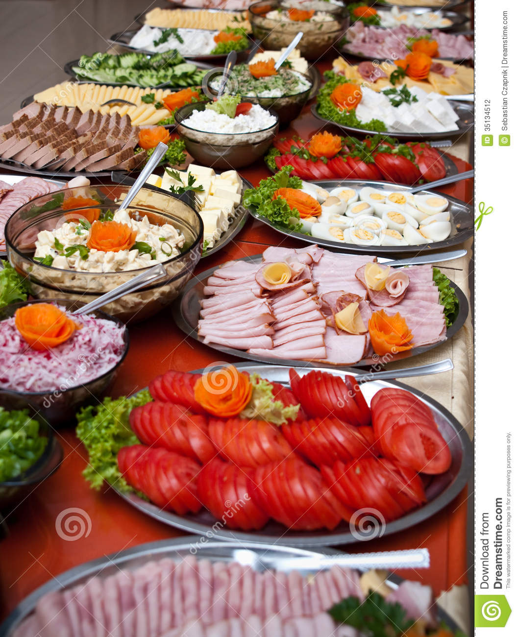 Luxurious food buffet stock photography image 35134512 - Buffet de cuisine noir ...