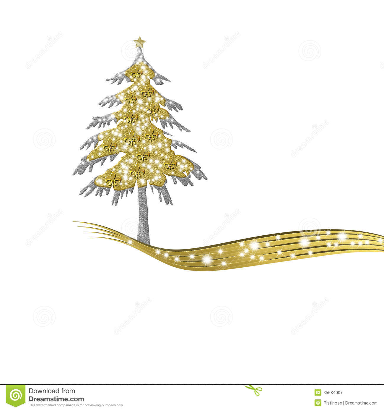 royalty free stock photo download luxurious gold christmas tree - Gold Christmas Tree
