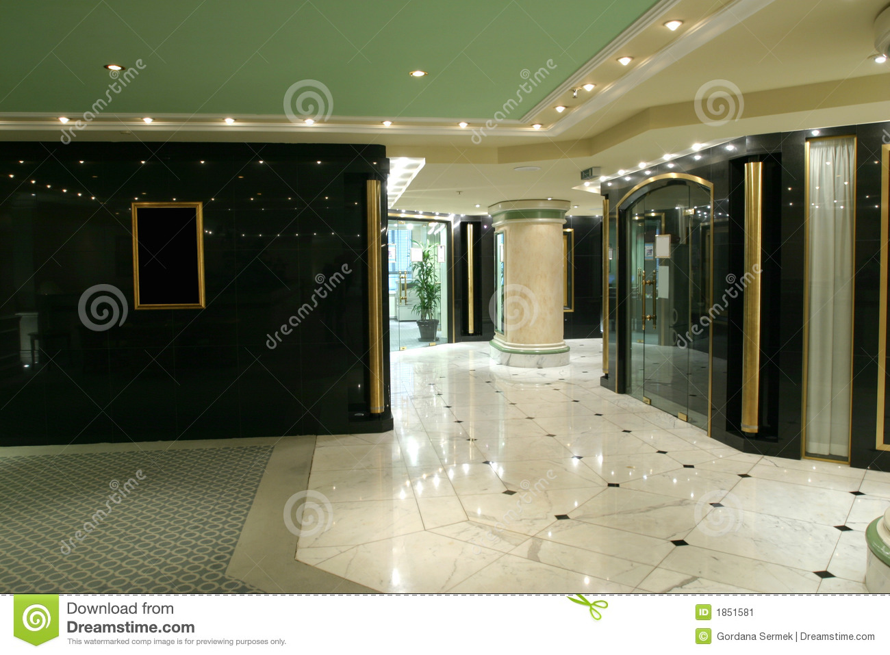 Luxurious Hall Stock Image Image Of Granit House