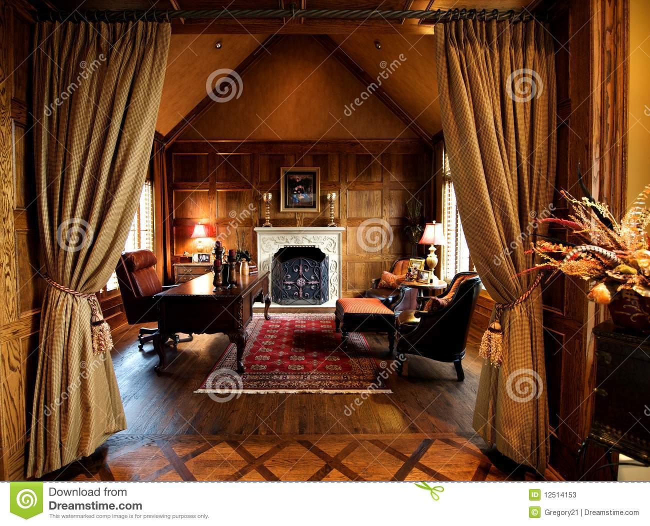 Luxury Home Office luxurious home office space stock photos - image: 12514153