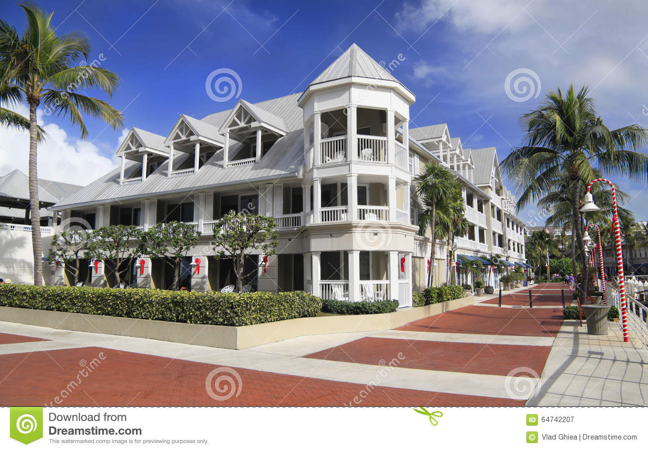 Luxurious Hotel In Key West, Christmas Time, Florida Stock Image ...