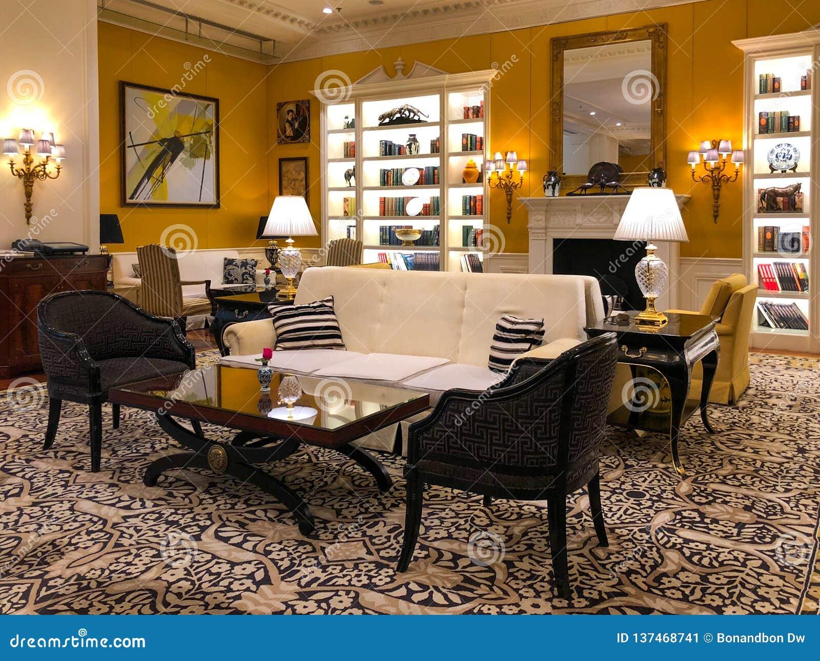 Groovy Luxurious Hotel Lobby Interior Of Ritz Carlton Tianjin Download Free Architecture Designs Crovemadebymaigaardcom