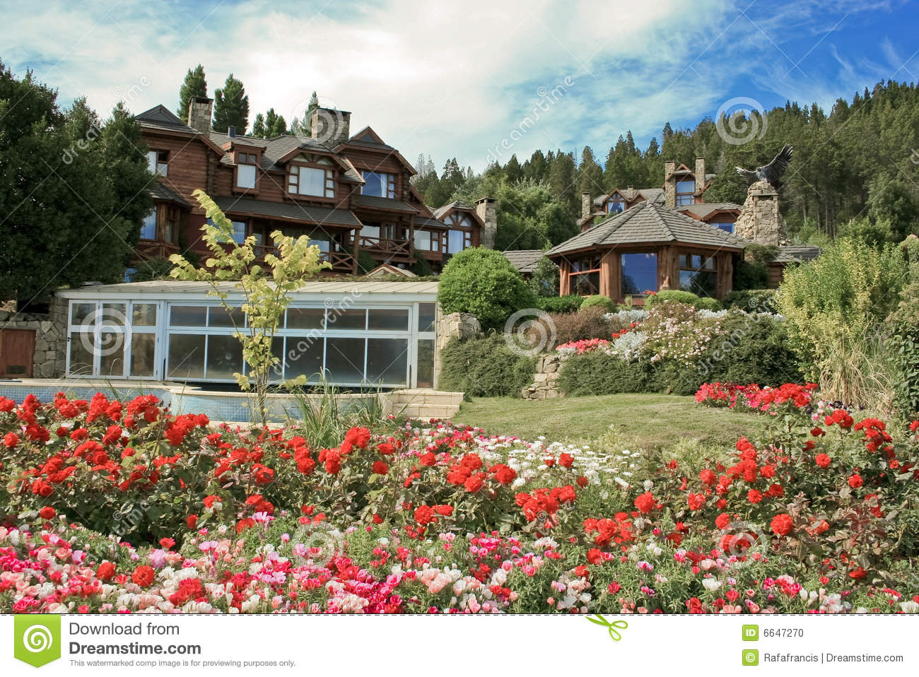 Luxurious house in countryside stock photo image 6647270 - Countryside dream gardens ...