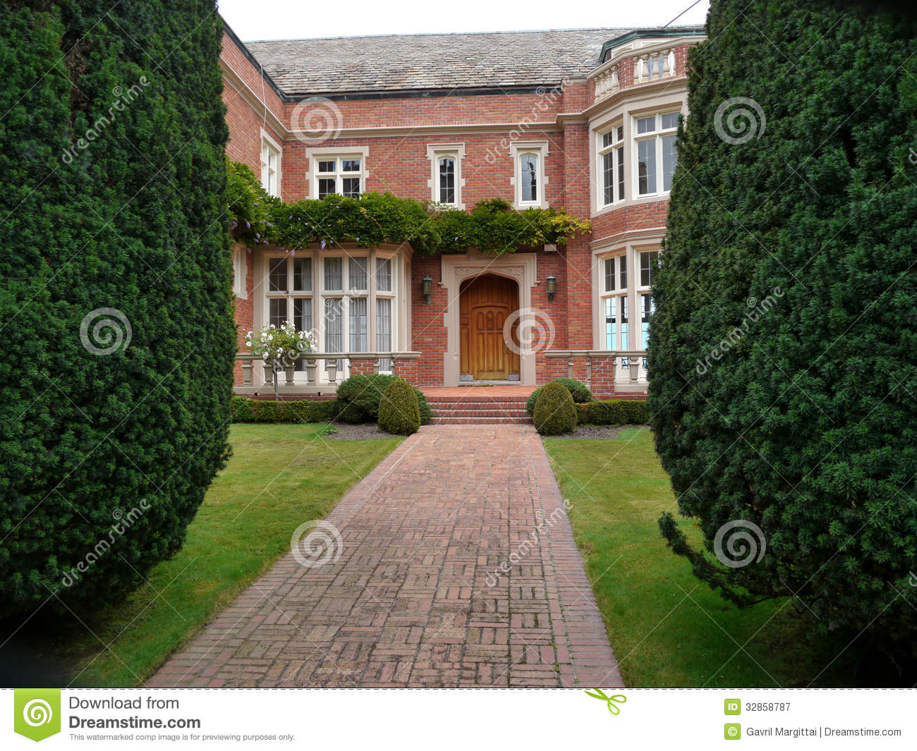 Luxurious House Entrance Royalty Free Stock Photography - Image ...