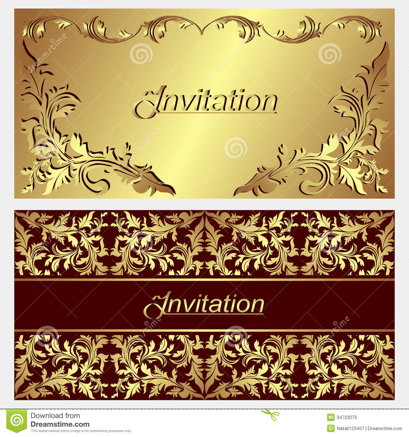 Luxurious Invitation Cards. Stock Vector - Image: 34723275