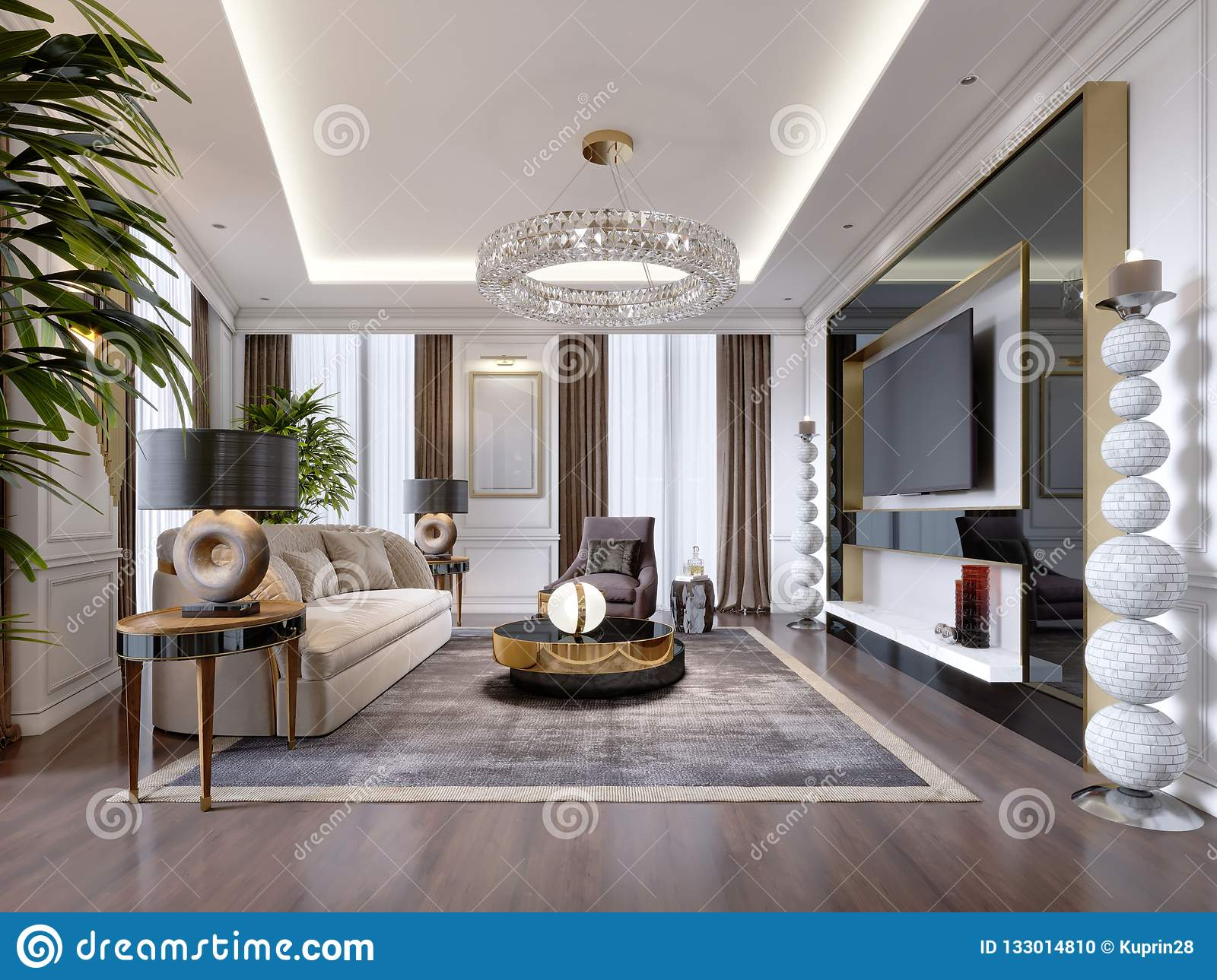 Fine Luxurious Living Room In Modern Style With Sofa Armchair Gmtry Best Dining Table And Chair Ideas Images Gmtryco