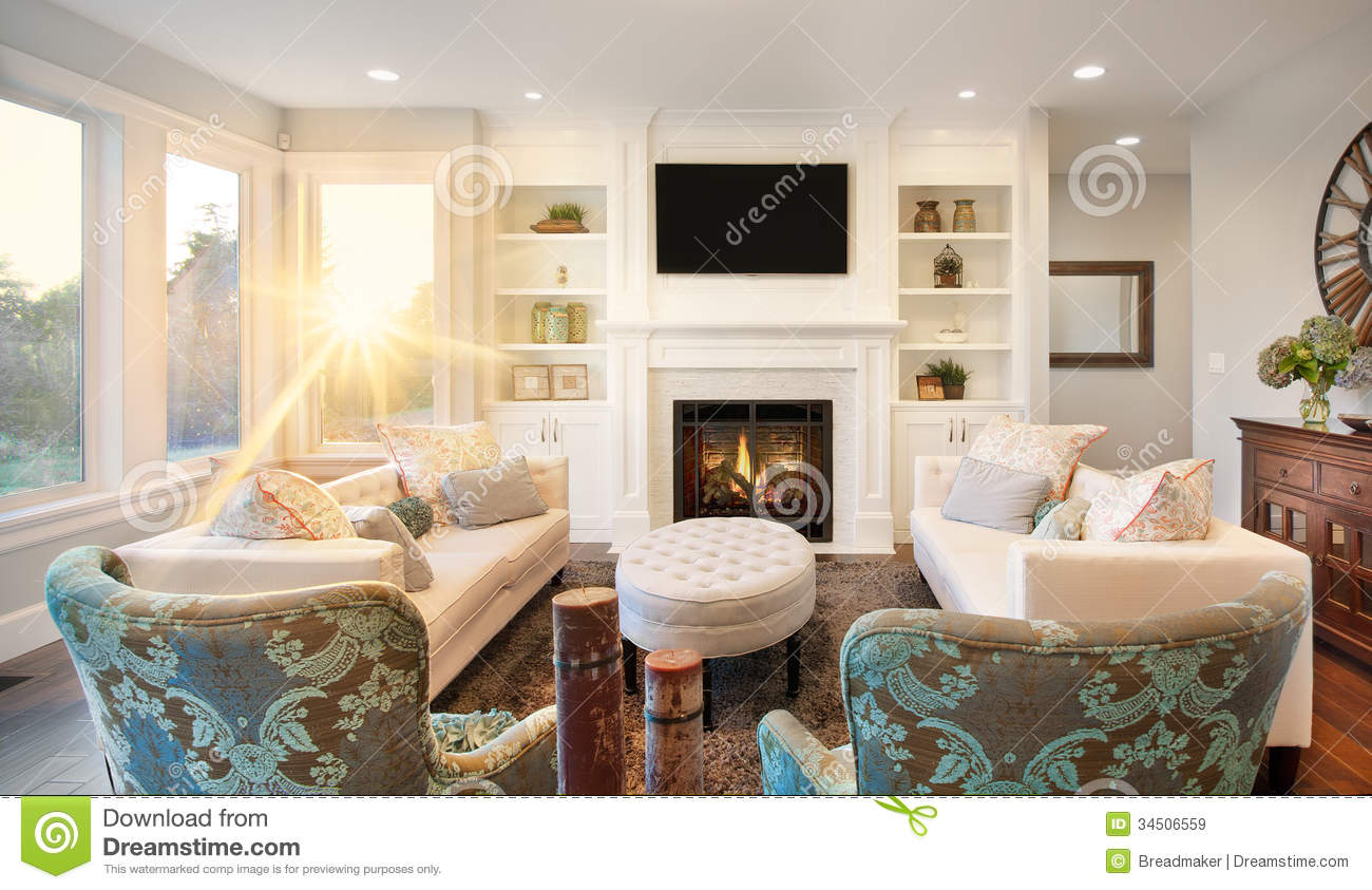 Luxurious Living Room Stock Image Image Of Construction